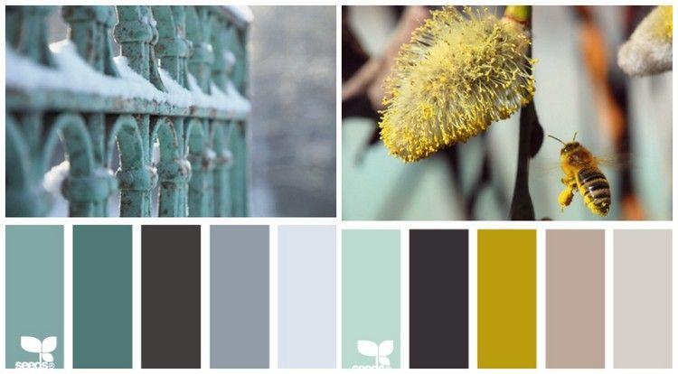 Salbeigr n und grau oder ocker und beige k che wandfarbe farben und k che farbe - Wandfarbe ocker ...