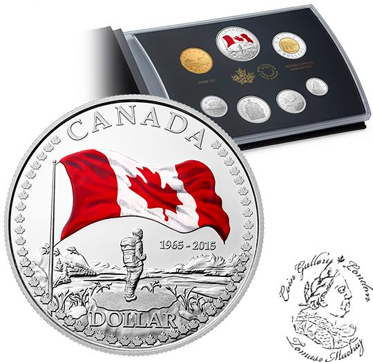 Coin Gallery London Store - Canada: 2015 Proof Coin Set - 50th Anniversary of the Canadian Flag, $229.95