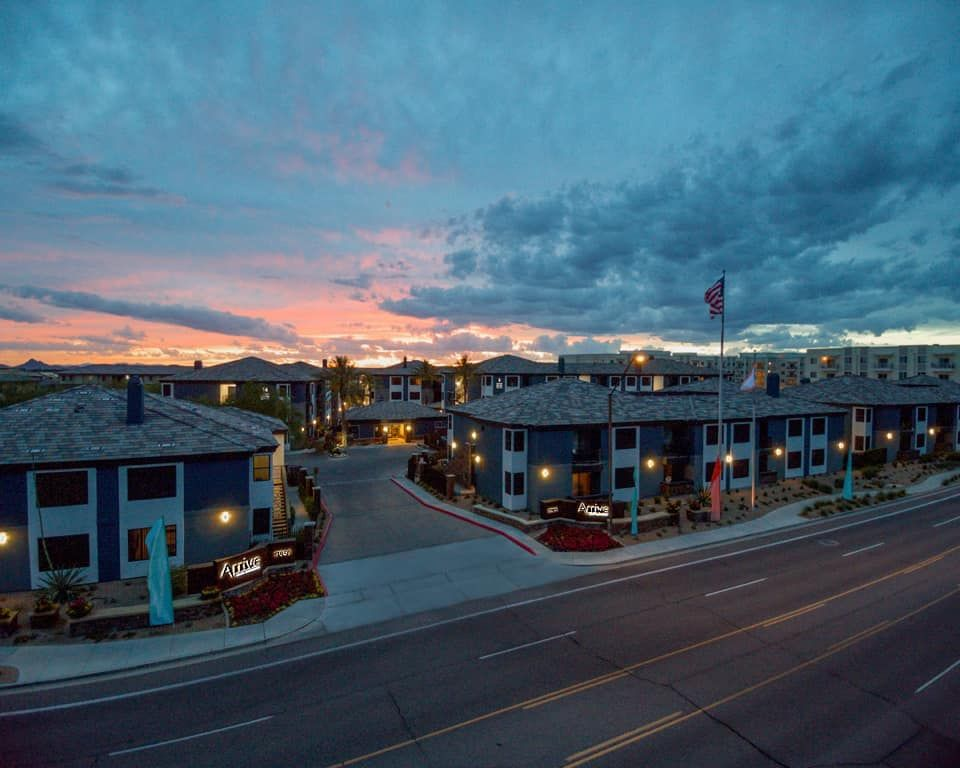 Did You Catch That Beautiful Sunset Over Our Community Last Night We Caught The Beauty Within Seconds Of T Pet Friendly Apartments Scottsdale Beautiful Sunset