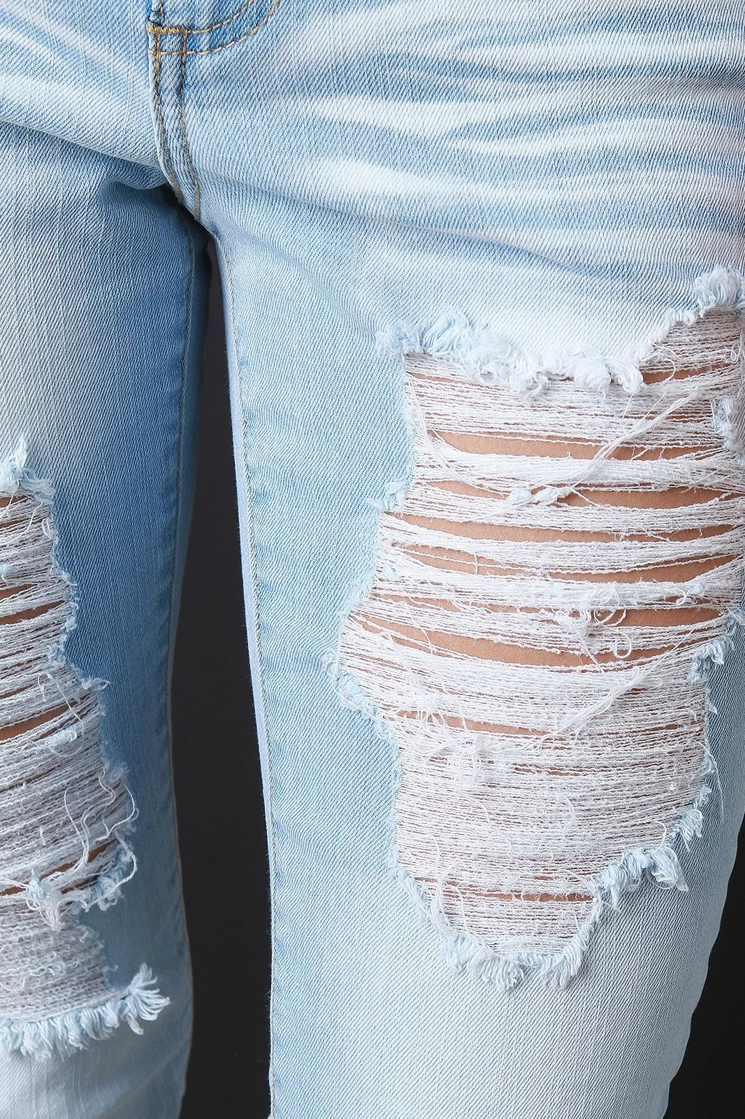 Distressed Cloud Nine Jeans