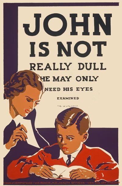 AZ17 Vintage 1930/'s John Is Not Dull Opticians Eyes Examined Poster A2//A3//A4
