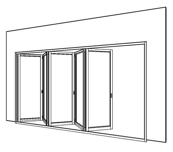 5-panel Bi-fold external door | Revit/ Sketch Up | Pinterest ...
