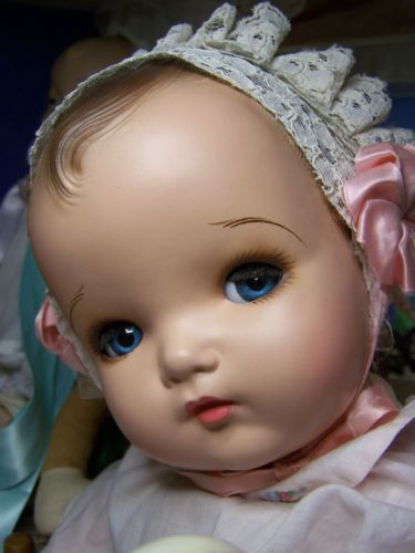 """24"""" COMPOSITION CLOTH DOLL MA GENIUS CHUBBY BIG FAT BABY LARGE COMPO COMPOSITE"""