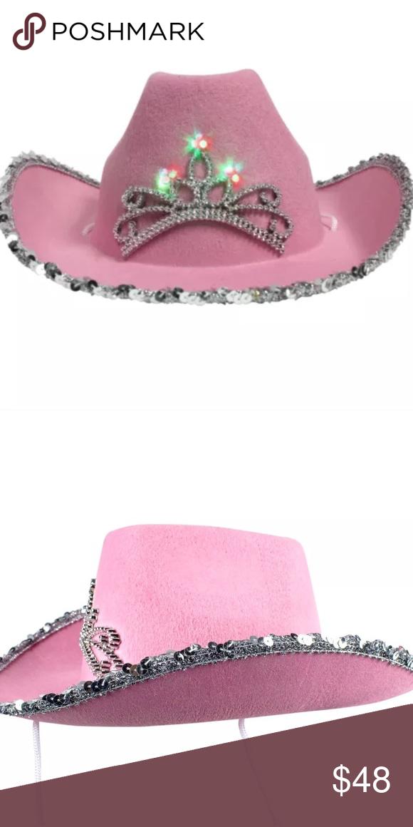 Barbie Pink Sequin Light Up Glow Rave Festival Hat Festival Hat Pink Sequin Barbie Pink