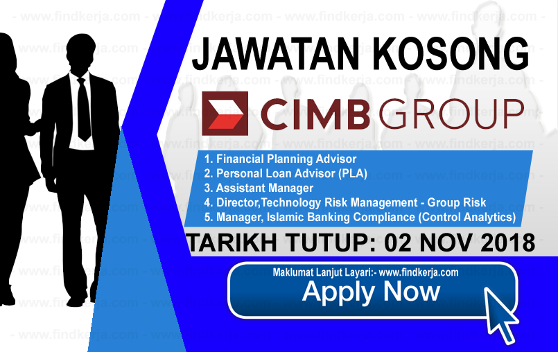 Jawatan Kosong CIMB Group 02 November 2018 (With images