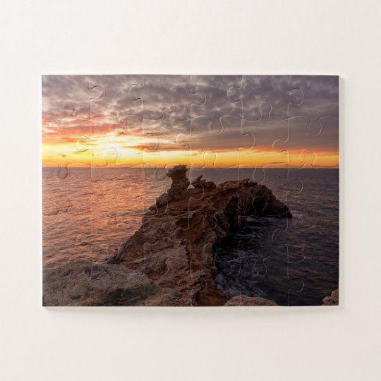 Puzzle de un dramatico amanecer en Ibiza