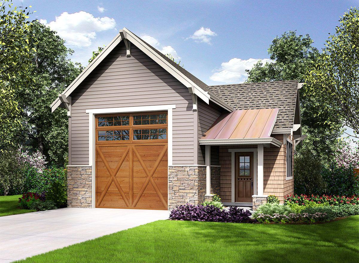 Plan 23664JD Craftsman Style RV Garage in 2020 Rv