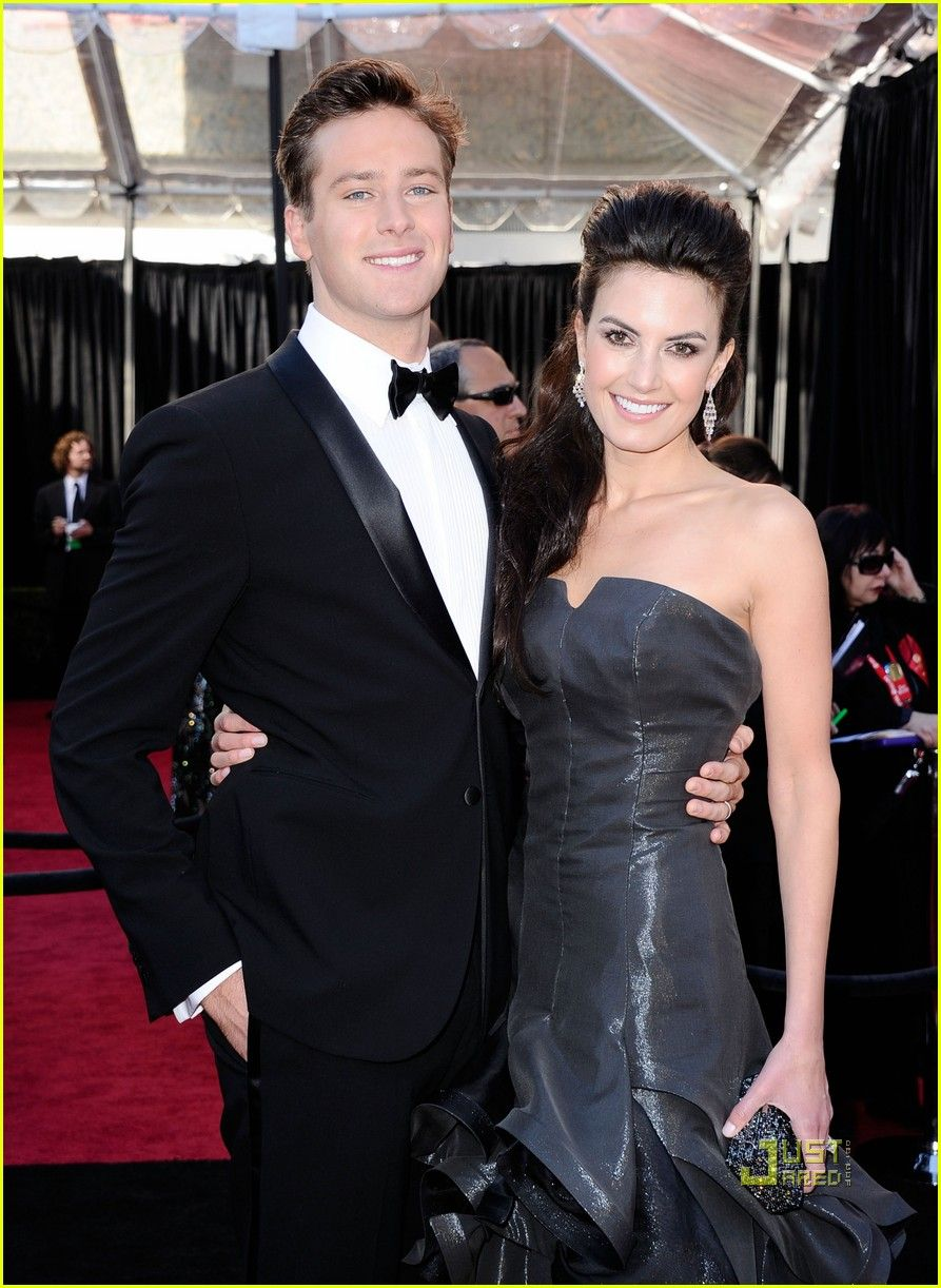 Armie Hammer with beautiful, cute, Wife Elizabeth Chambers