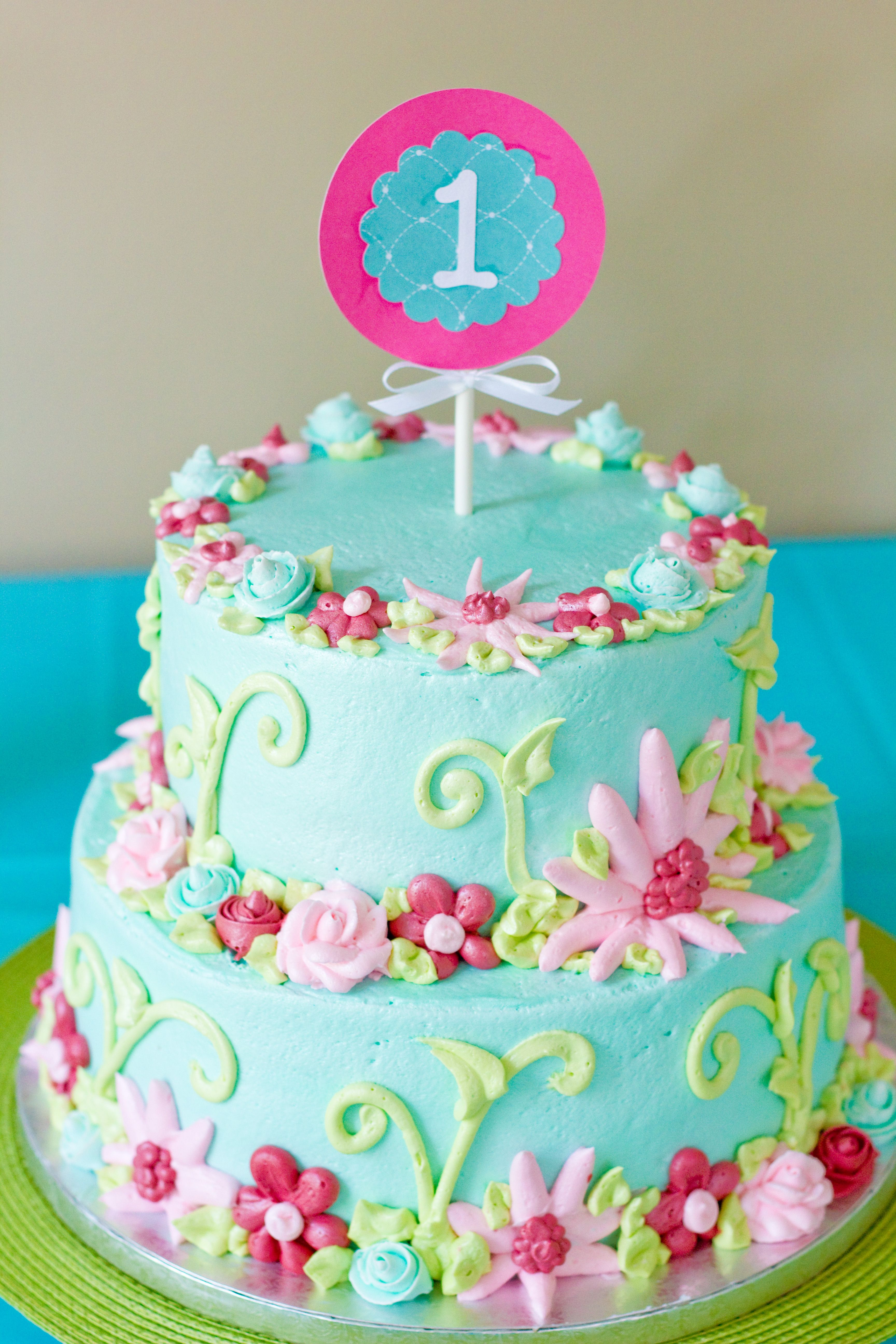 Beautiful Cake Creation From Our Local Publix Bakery 2 Tiered Garden Inspired That Featured The Colors Of Party