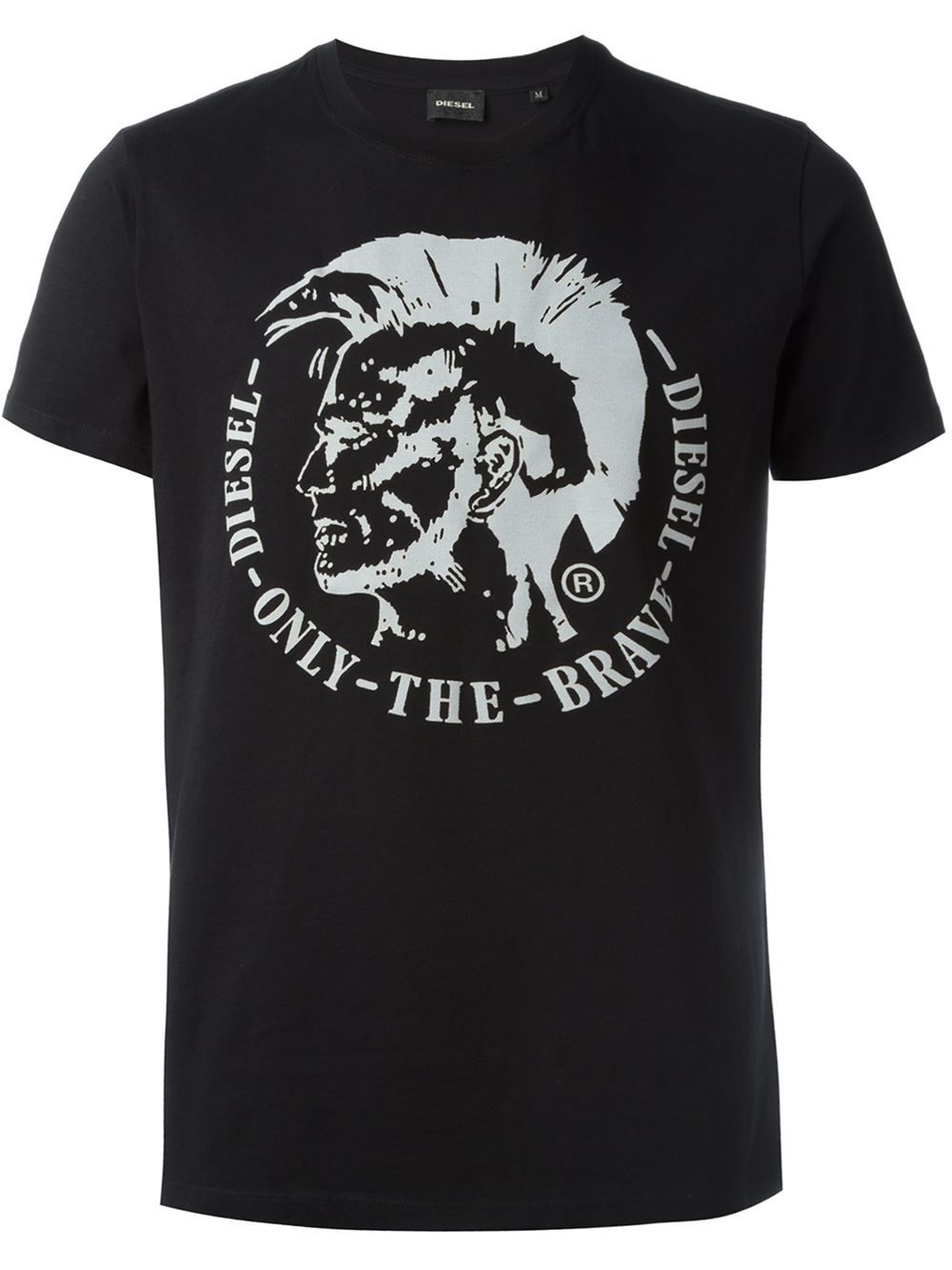 0e4f01f3c9fe31 Diesel Only The Brave Embossed T-shirt - Vitkac - Farfetch.com ...