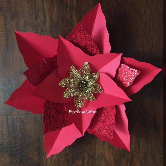 Handmade paper flower poinsettia sets perfect for the holidays or handmade paper flower poinsettia sets perfect for the holidays or any event made to order shipping is 5 7days 3 piece paper flower set flowers r mightylinksfo
