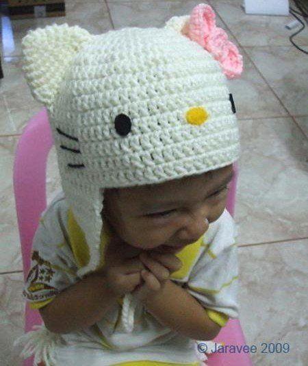 tricoter un bonnet hello kitty