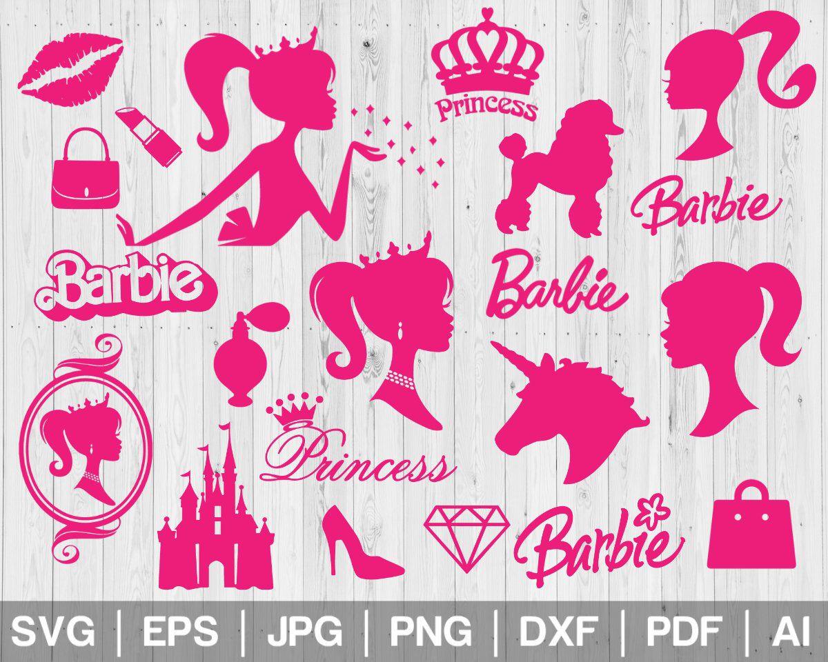 Pin By Mariel Vazquez On Barbie Printables Barbie Logo Barbie Silhouette Barbie Theme Party