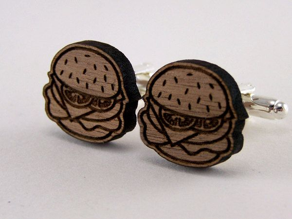 Cheeseburger cufflinks, okayyyy