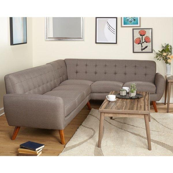 Simple Living Livingston Mid-Century Sectional Sofa | Overstock.com ...