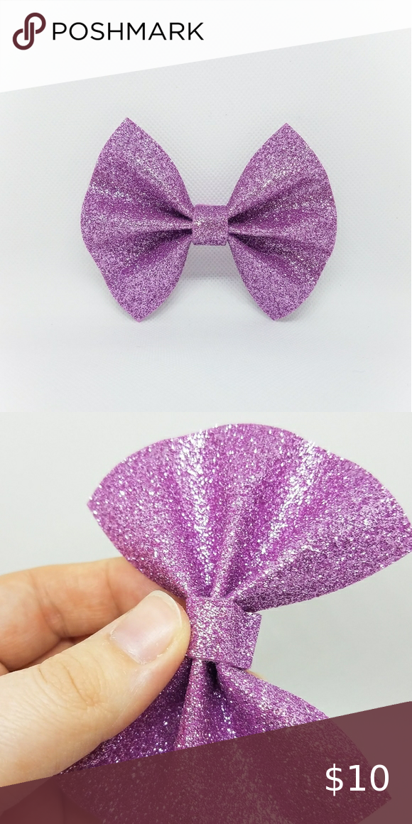 Purple Felt Glitter Hair Bow Accessory Noshed In 2020 Bow Accessories Kids Hair Accessories Glitter Hair Bows