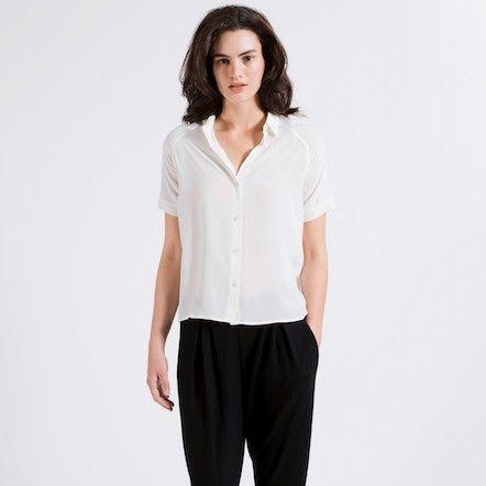 683095cb4d7f5 The Silk Short Sleeve - White – Everlane – Everlane