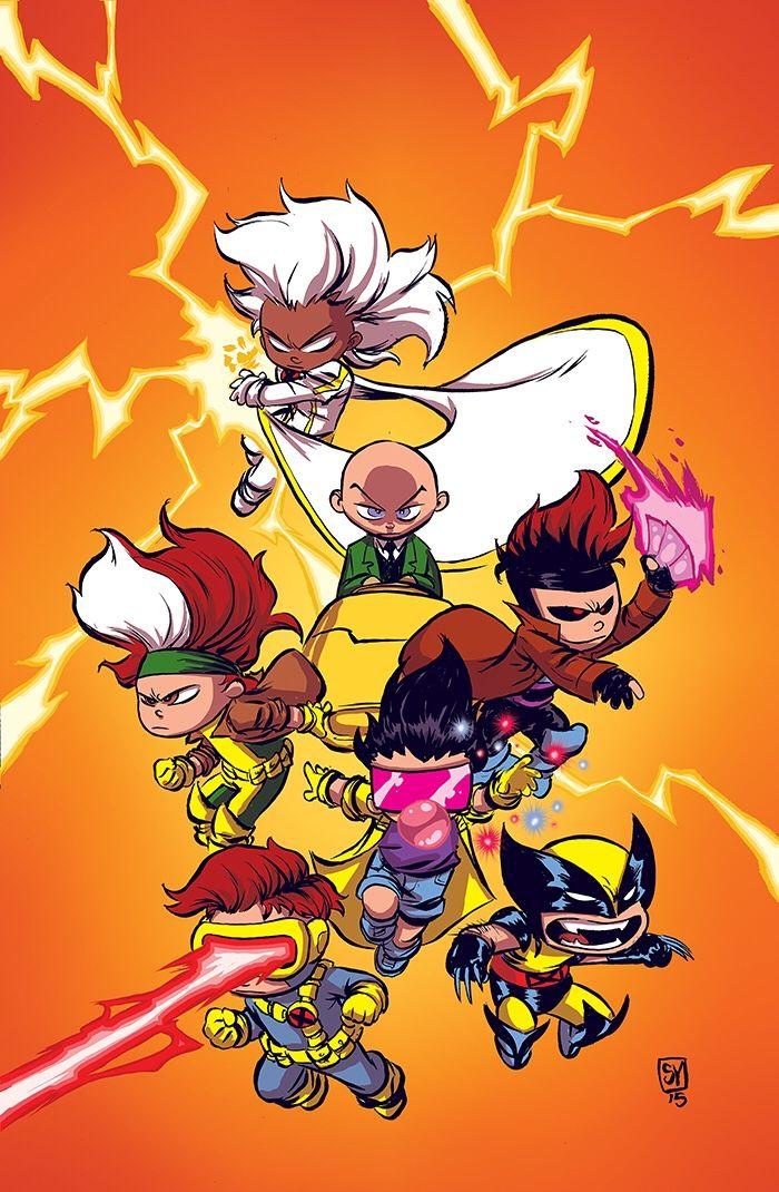 #X-Men #Fan #Art. (X-Men '92 Vol.1 #1 Baby VariantCover) By: Skottie Young. ÅWESOMENESS!!!™ ÅÅÅ+