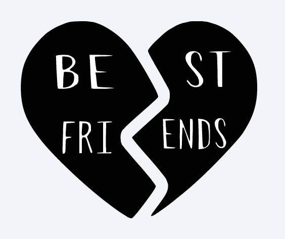 SVG best friends best friends heart broken heart matching ...