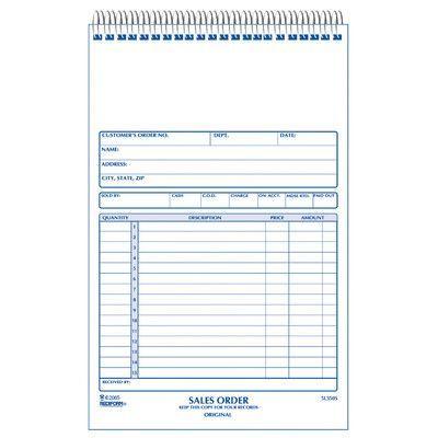 Rediform-Blueline 5-1\/2 - duplicate order form