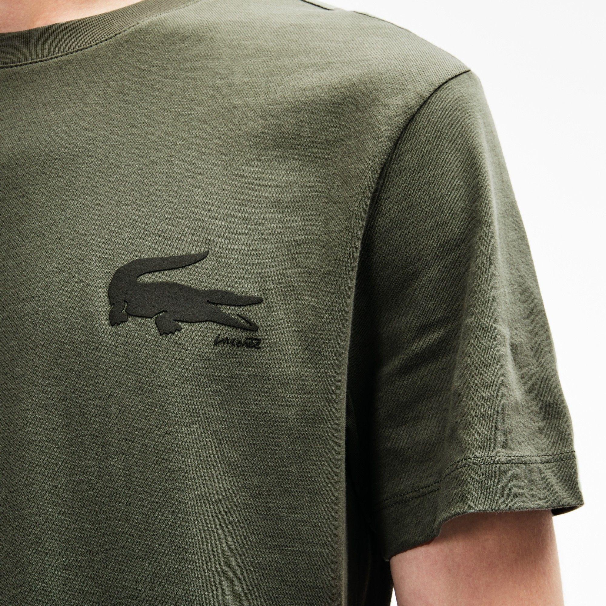 0e95fb13 Lacoste Men's Crocodile Lettering T-Shirt - Electric/Marino S 3 ...