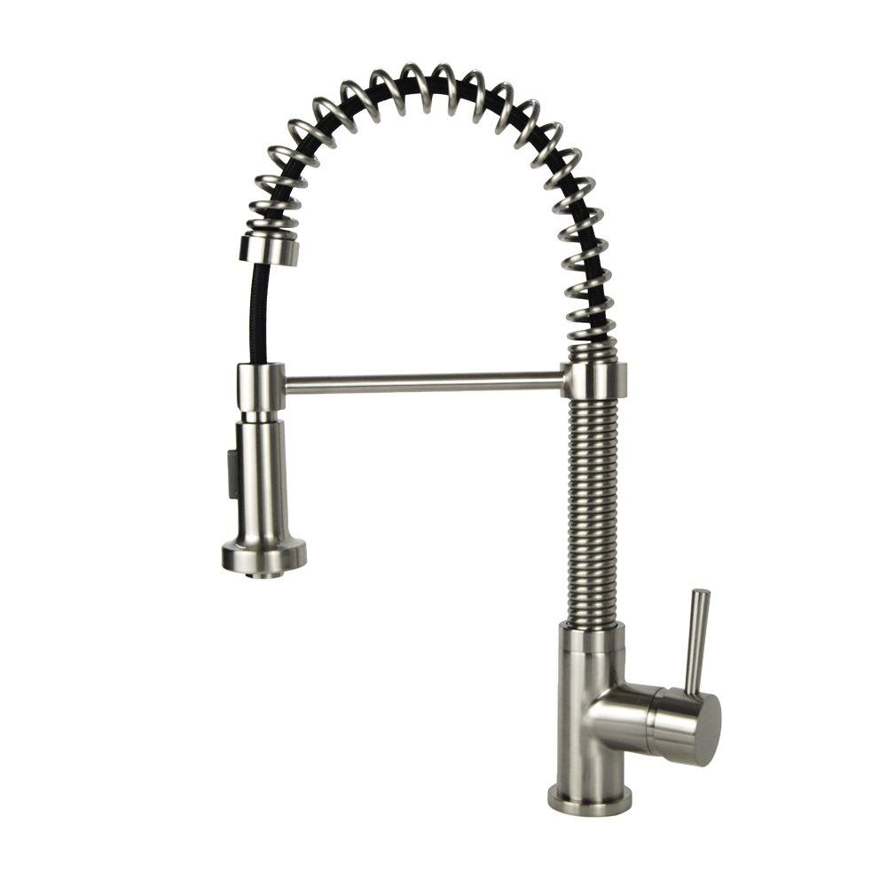 Italia Faucets Single Handle Pull Down Sprayer Kitchen Faucet In