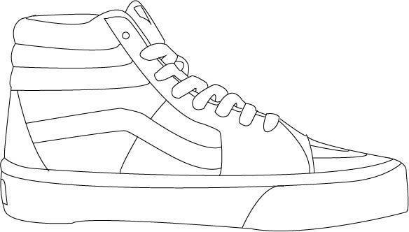 Vans Sk8 Hi Sneakers Drawing Vans Shoes Sneakers Illustration