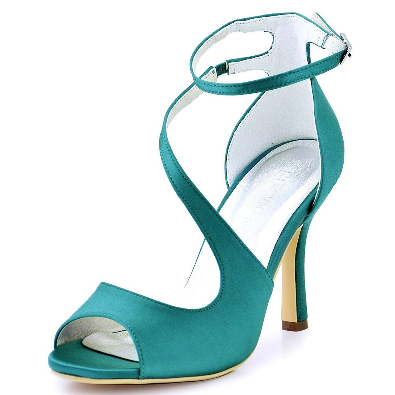 Amazon.com | ElegantPark HP1565 Women\'s Peep Toe High Heels Ankle ...
