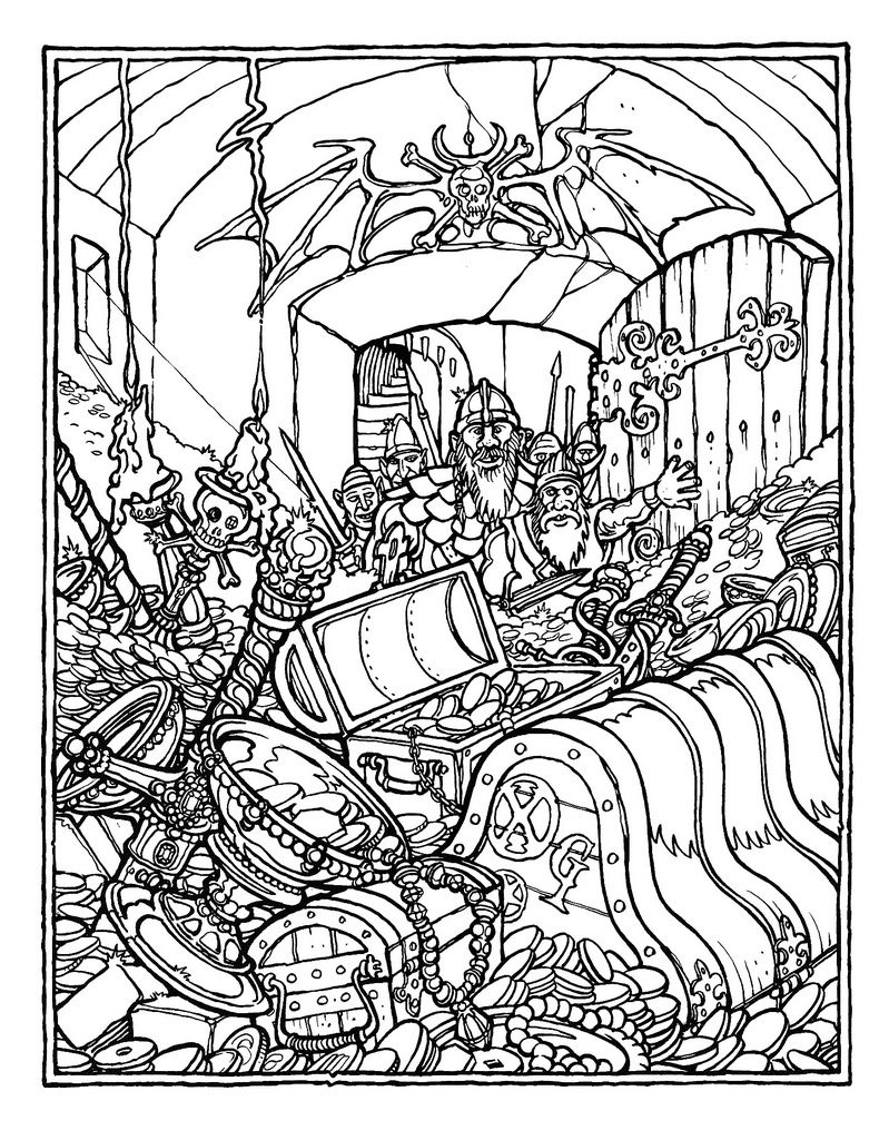 The Official Advanced Dungeons And Dragons Coloring Book Illustrated By Greg Irons 1979 Dragon Coloring Page Coloring Pages To Print Monster Coloring Pages