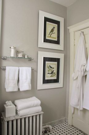 Images Photos Benjamin Moore London Fog in the bathroom and throughout the home Sarah Winchester Apt Feb