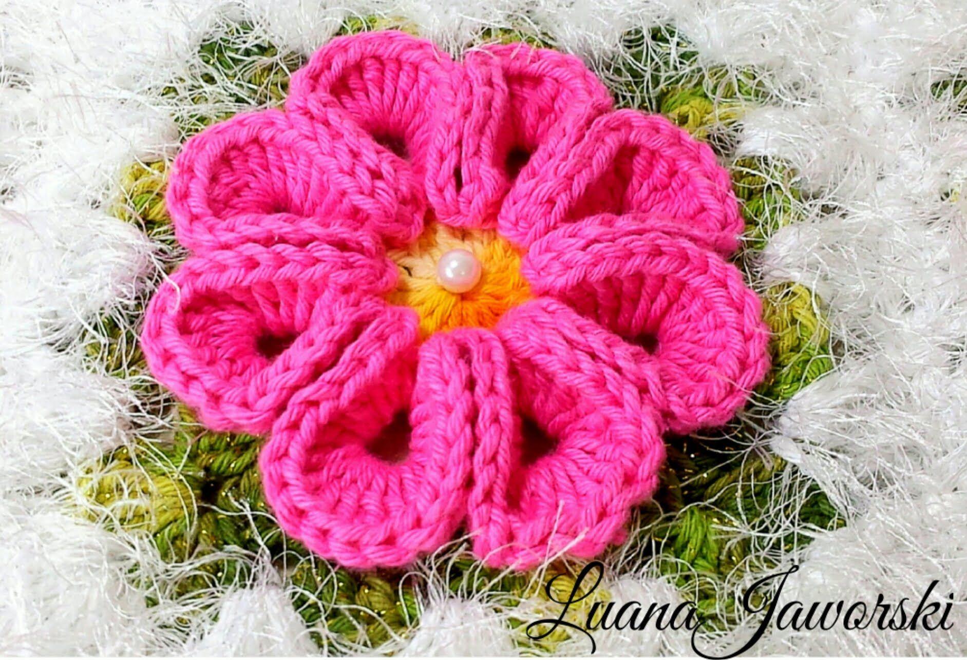 Flor Real Crochê | Passo a Passo | Luana Jaworski | flores ...