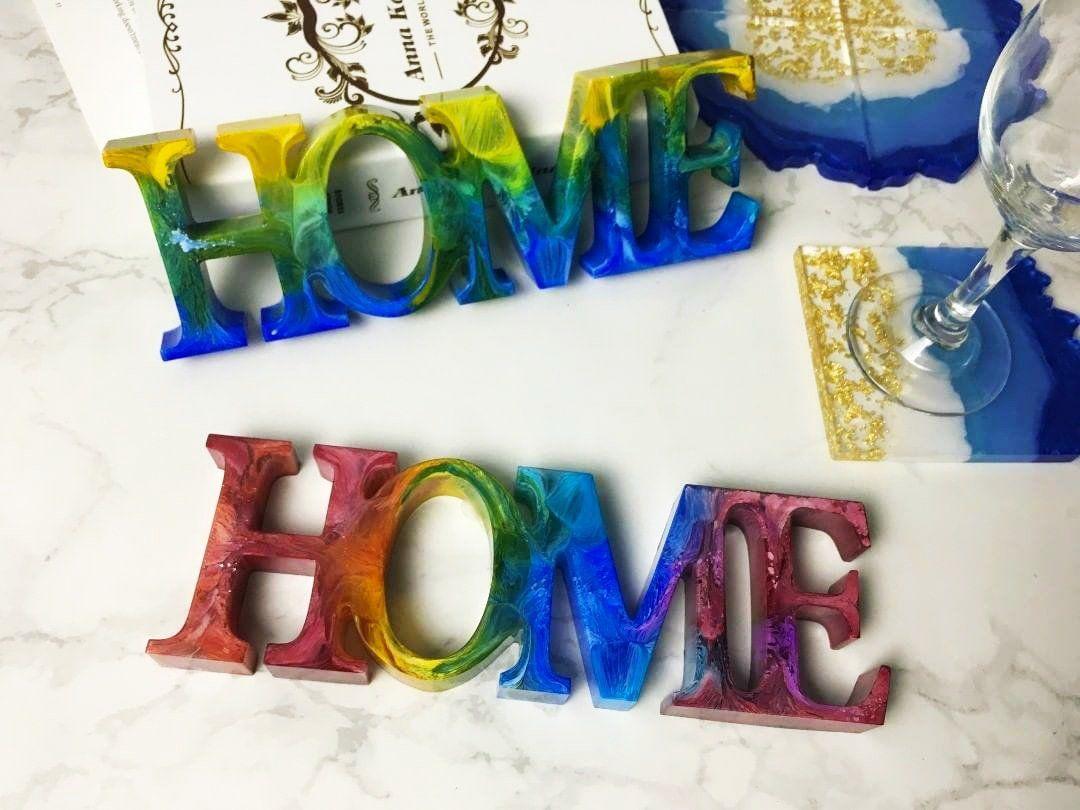 Home silicone mold for resin decor resin home decor