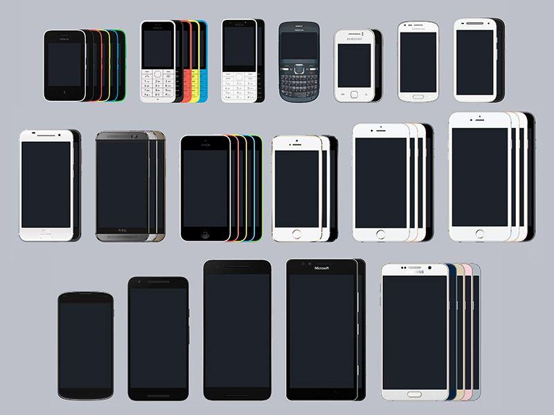Large Set Of Mobile Device Mockups Sketch Freebie Download Free Resource For Sketch Design Resources App Design Inspiration Free Design Resources