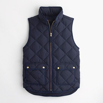 Petite Excursion Quilted Down Vest Outerwear Amp Blazers
