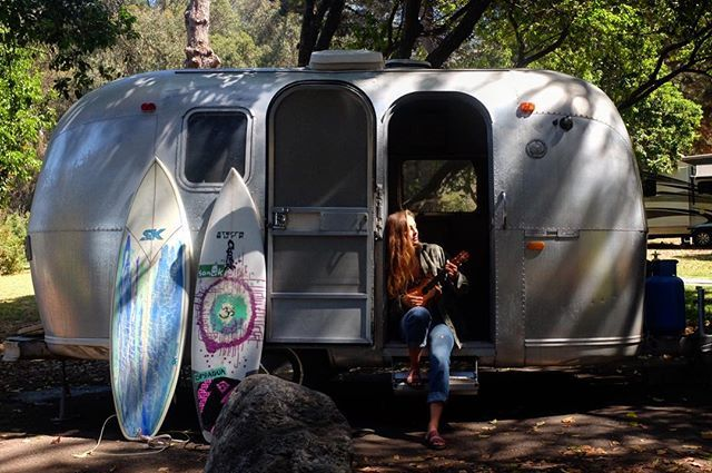 by kiana4s: Jamming with the squirrels and woodpeckers 🌸🌲🍃 #bambi1969 #airstreamlife…