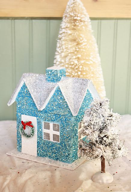 glitter house - must get edible glitter for nieces to decorate with