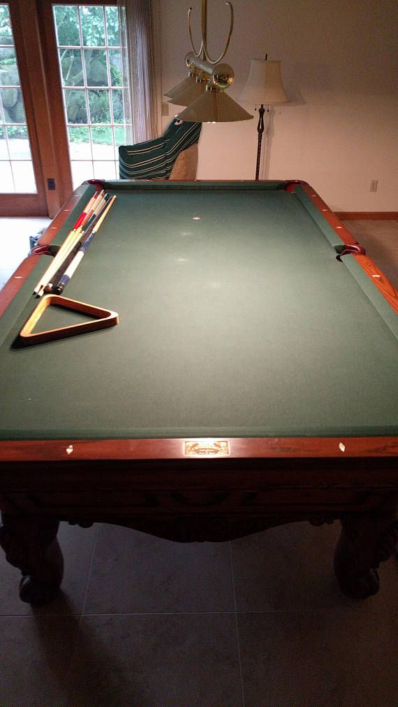 Absolutely Incredible Charles A Porter Designed Custom Pool Table - 9 slate pool table