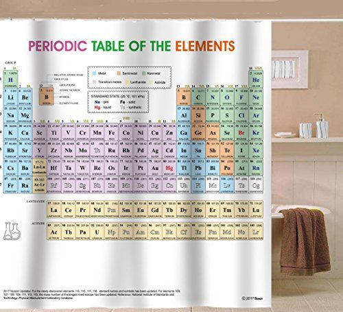 Updated Periodic Table Of Elements Shower Curtain Pvc Fr Https