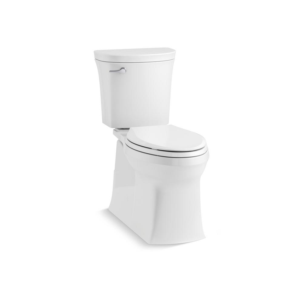 Kohler Valiant The Complete Solution 2 Piece 1 28 Gpf Single Flush Elongated Toilet In White K 45927 0 The Home Depot Kohler Kohler Toilet Elongated Toilet Seat