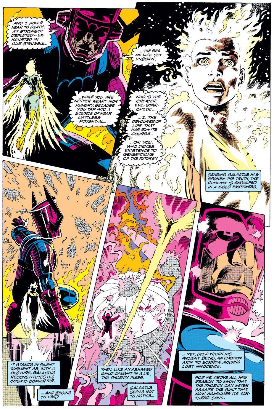 Phoenix vs Galactus in Excalibur #61 (1998) - Alan Davis