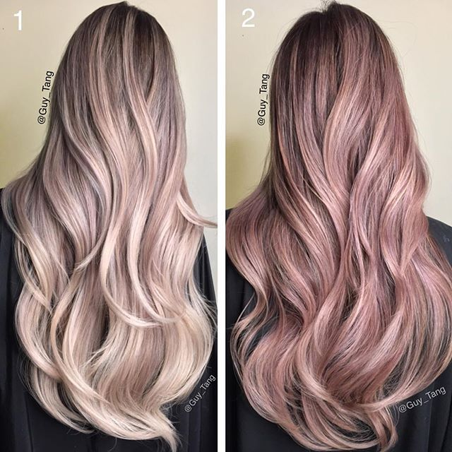 A classic throwback of some old stuff from two years back🙉🙈 number ONE is Pearl toned and number TWO is Rose on two different clients, which one is your favorite? @hairbesties_