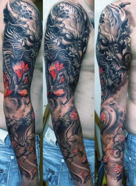 Tatuaże Męskie Smok Na Ręce Tattoos Tatuaże Męskie