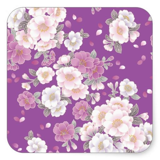 Cute Pink White Vintage Floral Vector Stickers