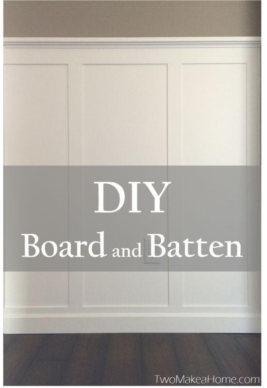 DIY Board and Batten Front Entry #boardandbattenwall