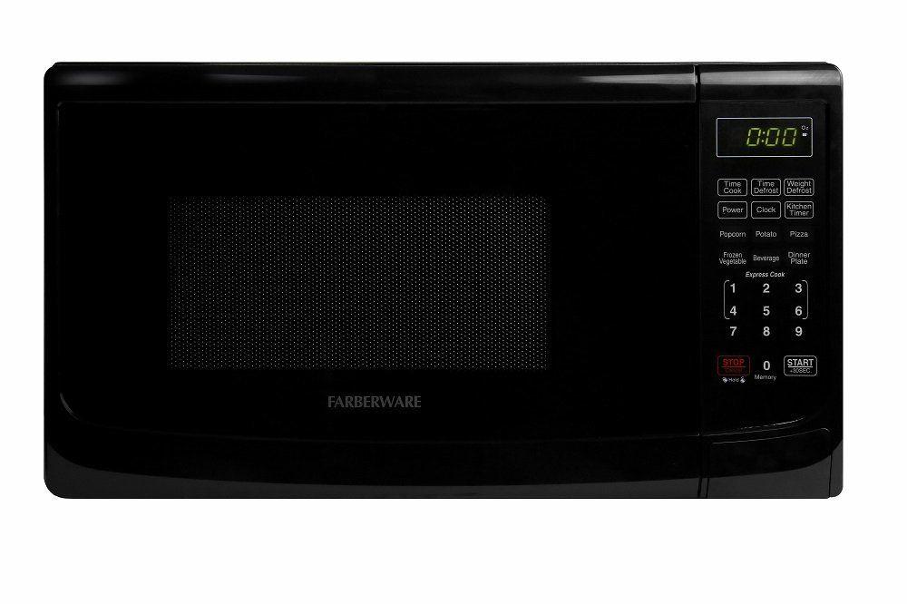 Amazon Com Farberware Fmo07abtbka Classic 700w Microwave Oven 0 7 Cu Ft Black Kitchen Amp Dining 700 Watt Microwave Microwave Oven Microwave