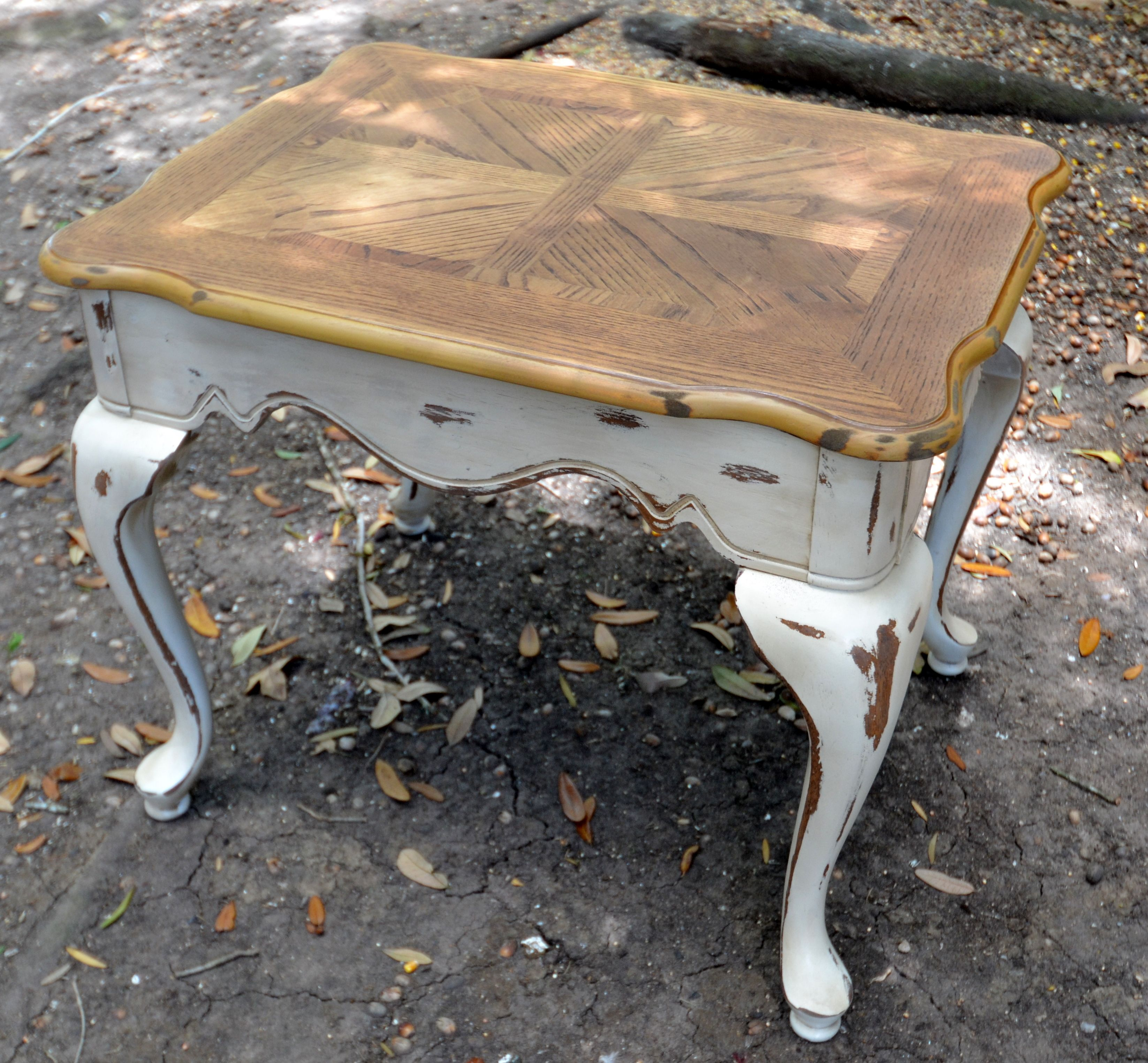 Distressed Side Table Makes Me Consider Just Sanding And Re