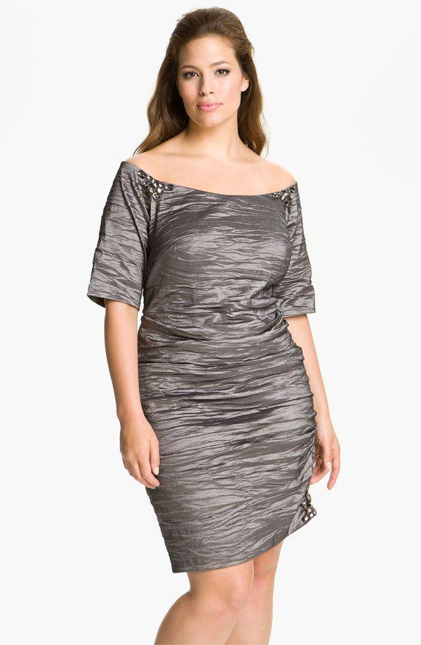 Alex Evenings Off Shoulder Taffeta Dress (size 14W) #AlexEvenings ...