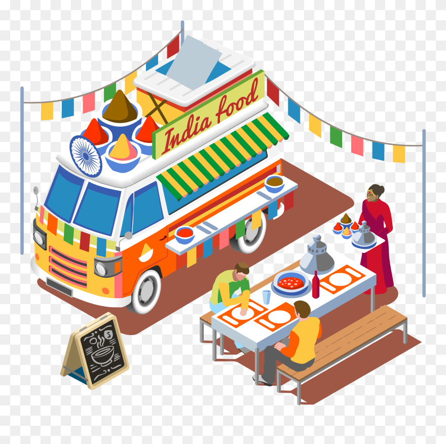 Download Hd Street Food Fast Food Barbecue Grill Food Truck Indian Food Truck Clip Art Png Download And Us Street Food Indian Food Recipes Grilling Recipes