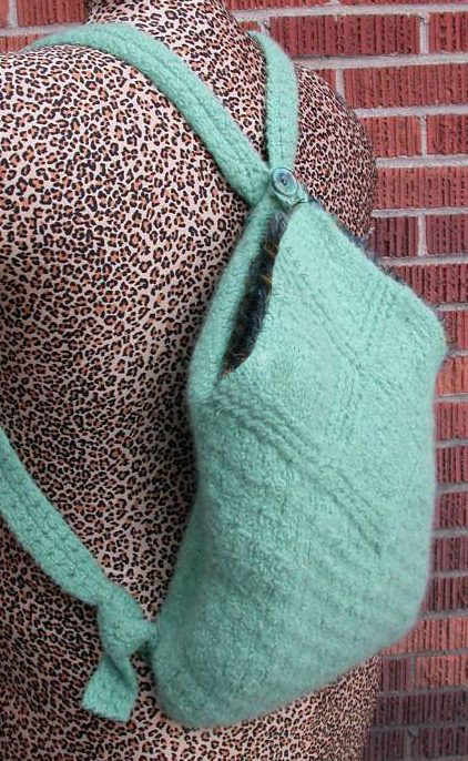 Free Knitting Pattern for Domino Backpack - This bag is knit with ...