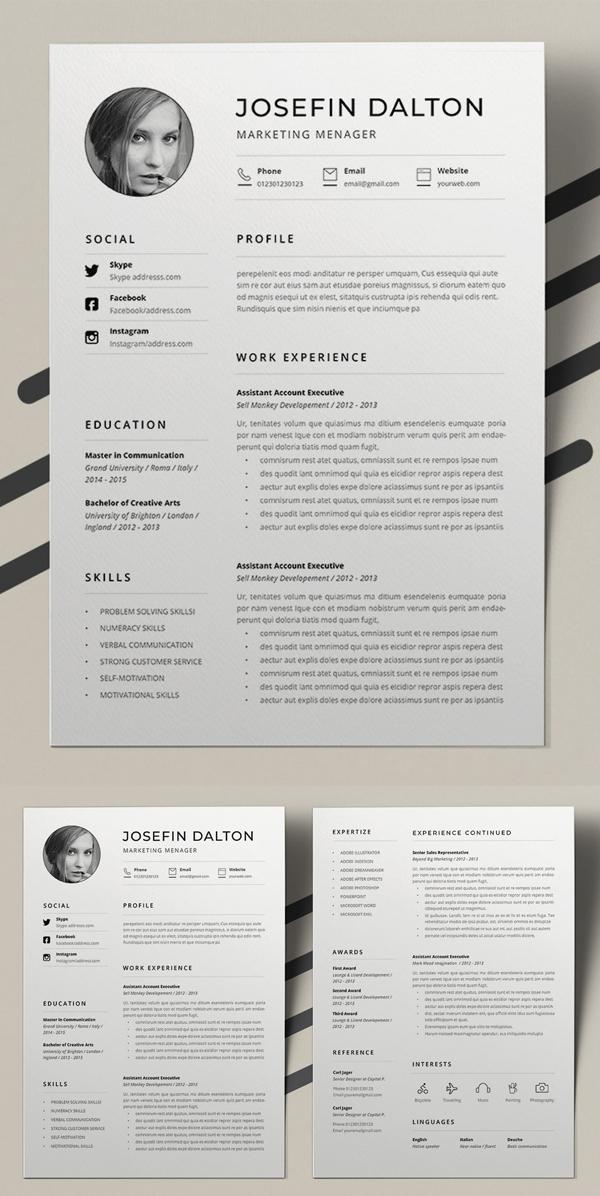 Word Resume Template In 2020 Resume Template Resume Cover Letter For Resume